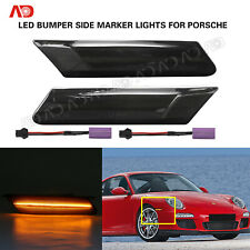 For Porsche 911 Carrera 997 Boxster Cayman LED Bumper Side Marker Light Smoked
