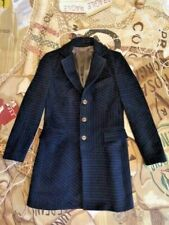 PRE-LOVED VIVIENNE WESTWOOD MAN BIAS CUT BROKEN STRIPED COAT JACKET SIZE 48