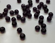 30 perles en verre ronde 6mm violet //2