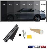 Film Solaire Noir Qualité Pro 76cm X 3m Teinté 15% Vlt 15%Pro Auto Batiment
