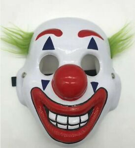 UK Seller, Joker Mask Arthur Fleck Cosplay DC Movie Clown Protest Halloween
