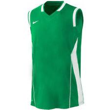Magliette da uomo senza maniche verde con scollo a v