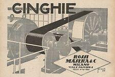 Z0531 Cinghie Rossi Masera & C. - Milano - Pubblicità del 1927 - Advertising