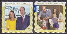 2014 Royal Visit of William, Catherine & Prince George - MUH Complete Set