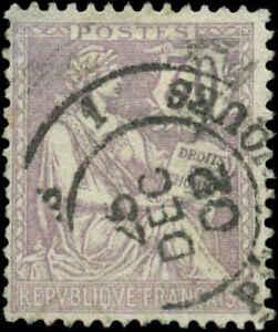 France Scott #137 Used  Christmas Day Cancel   25 December 1902