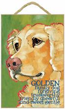 Golden Retriever Traits & Characteristics Sign 7.5 x 10