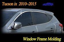Window Frame Molding Chrome Garnish 4Pcs C100 for Hyundai Tucson ix 2010 ~ 2015