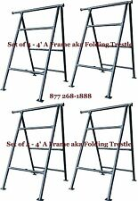 Set of 4- 4' A Frame aka Folding Trestle for Masonry Contractor work Cbmscaffold