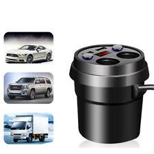 2 Way 12V Multi Socket Car Cigarette Splitter Lighter Adapter 2 USB Plug Charger