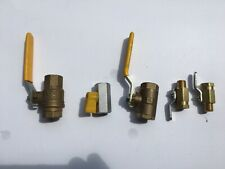 LOT of 5 PARKER SMALL BRASS BALL VALVES,  NEW,  FREE shipping