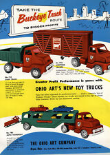 1959 PAPER AD The Ohio Art Co Toy Livestock Trailer Dump Truck Auto Transport