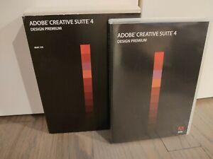 Adobe CREATIVE SUITE 4 CS4 Design Premium on 4 DVDs for Mac OS w/Serial Number
