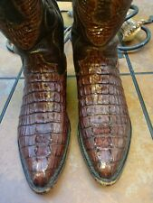 Cowtown Brown Cowboy Western Camin Leather Boots, Men's 9D Excellent Condition.