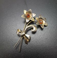 Sterling Silver .925 Solid 7.9 Grams Vintage Beautiful Large Flower Pin Brooch