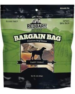 2 RedBarn Bargain Bag Dog Treats OVER 2 Pounds Puffs Bully Bones Chews Dental