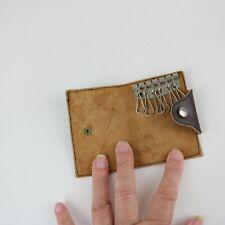 Vintage Leather Key Holder Case - Brown - Holds 6 keys