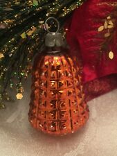 Antique Feather Tree Pineapple Glass Christmas Ornament Tropical Fruit Germany