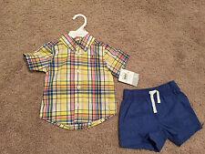 New Carter's Baby Boy Shirt & Shorts 2-Pieces Set. Size 9 Months