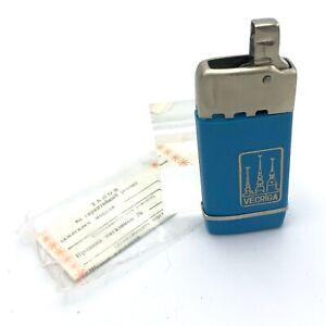 Soviet Lighter Souvenir NOS Blue VECRIGA Gomel Latvia Belarus USSR 1988 Smoking
