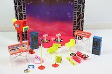 1985 Arco Popstar Fashion Doll Video Recording Studio Barbie Jem Concert Stage