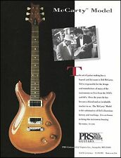 Mr. Paul Reed Smith & Ted McCarty PRS Model Guitar 1994 ad 8 x 11 advertisement