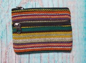 Fair Trade Gheri Cotton Purse Wallet Hand Made Hippy Boho Hippie Summer Festival