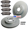 FOR MAZDA 2 1.3, 1.4, 1.5, 1.6 (2008-2014) FRONT 2 BRAKE DISCS & PADS SET *NEW*