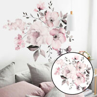 Flower Wall Stickers Decal Removable Vinyl Art Living Room Bedroom Mural Decors