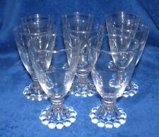 Set of 8 Anchor Hocking Candlewick Boopie Liquor Cordial Juice Glasses  CLEAR