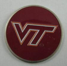 5 NCAA Collegiate Golf Ballmark Ballmarker Ball Mark Virginia Tech Hokies Maroon