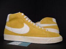 2010 Nike SB BLAZER HI SUEDE VINTAGE VNTG GOLD DART YELLOW SAIL WHITE NEW 13