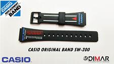 LOTTO 2 CASIO ORIGINAL BAND SW-200 NOS