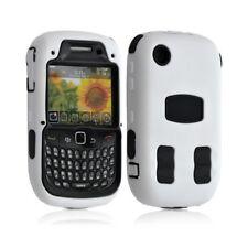 Housse étui coque pour Blackberry Curve 3G 9300 couleur blanc + Film de protecti