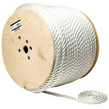 1/2 Inch x 600 Ft Three Strand Twisted Nylon Rope Spool for Boats