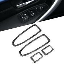 Carbon Fiber Car Window Lift Panel Frame Cover Trim For 3 Series F30 2013-2017