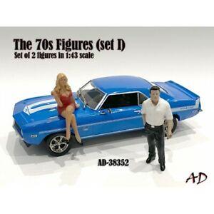 """70s style Figure set #1_2""  resin Figurine set  - 1:43 Scale - American Diorama"