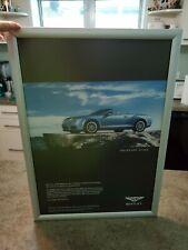 Vintage RARE Dealer Display BENTLEY Car Automobile 2008 Vinyl Framed Advertising
