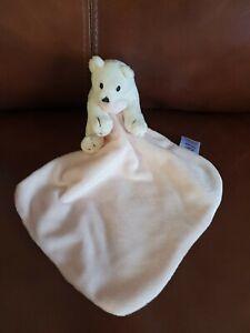 Polar Bear .. F& F ..  Pink Amd White  .. Baby comforter Blankie ... Vgc