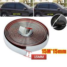 15mm X 15m Car Body Chrome Styling Decoration Moulding Trim Strip Adhesive Tape