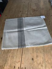 """NEW! Ivory & Grey LINUM Scandinavian Pure Cotton """"Contrast"""" CUSHION COVER 50x60"""