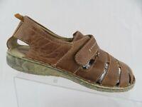 JOSEF SEIBEL Fisherman Brown Sz 8 (38 EU) Women Leather Sandals