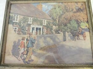 Framed open edition print of An Old Cornish Manor by Stanhope A Forbes