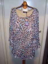 Polyester Animal Print Scoop Neck Tunic Dresses for Women