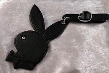 PLAYBOY lot de 2 grands black bunny les étiquettes à bagages (RRS Plaque & Crystal) Coffret Cadeau
