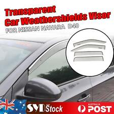 Clear Transparent Car Weather Shields Weathershield For Nissan NAVARA D40 UTE OZ