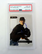 Tim Lincecum 2006 Just Rookies Signed Autograph Rookie Card RC PSA/DNA COA
