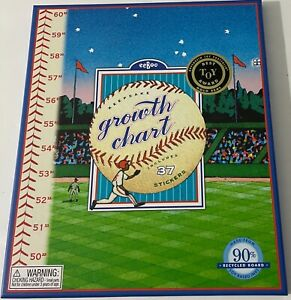 Eeboo Baseball Growth Chart New In Box Boys/Girls Room All Stickers Included
