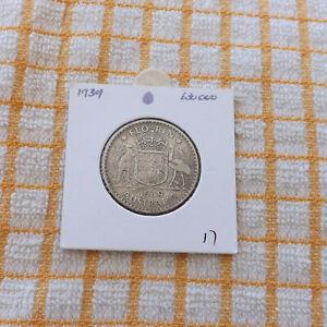 1939   silver  Australian  florin