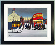 """JACK KAVANAGH """"GOING TO THE MATCH"""" PRESTON NORTH END FRAMED PRINT"""