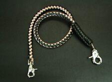 Wallet chain PORTAFOGLIO CATENA pantaloni catena in pelle nero naturale 8mm Biker